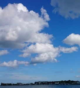 Clouds on a blue sky over Skerries