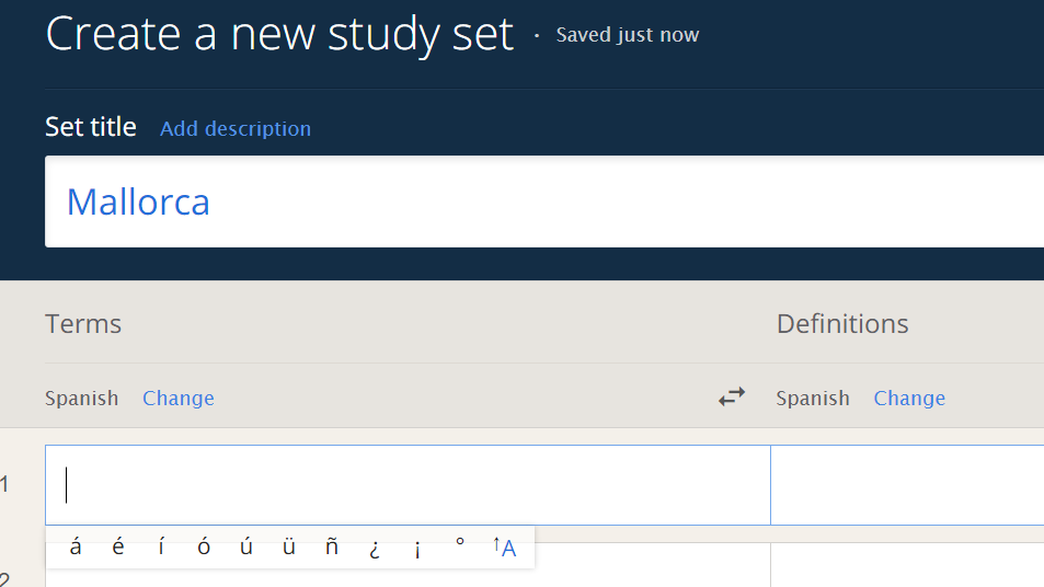 Quizlet add set