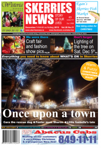 Dec 2015 Skerries News front page