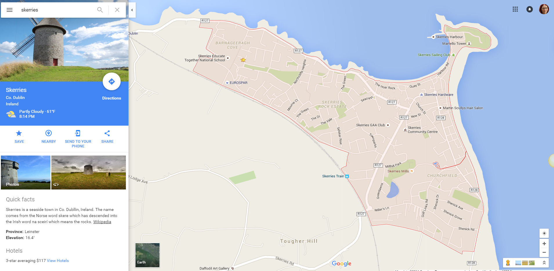 Skerries on Google Maps